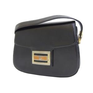 GUCCI Gucci Old Shoulder Bag Vintage Leather Black [20190220]