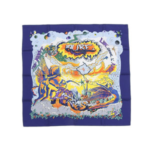 HERMES Hermes limited Alfie collaboration THE ALFEE AUBE Orb large format scarf Carre 90 blue silk [20181214]