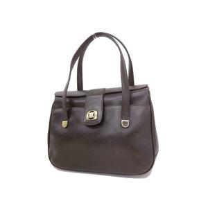 CELINE Celine macadam bracket handbag vintage dark brown [20181214]