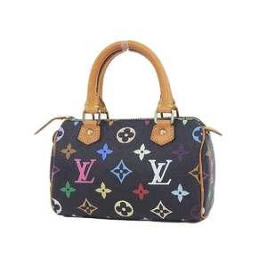 LOUIS VUITTON Louis Vuitton Mini Speedy Handbag Monogram Multicolor Black Noir M92644 Pouch [20190228]