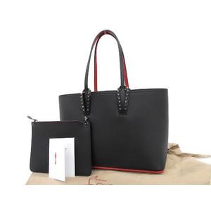 christian Louboutin Christian CABATA Kabata tote bag spike studs black shoulder used [20190308]