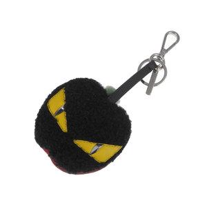 FENDI Fendi Bag Bugs Monster Apple Charm Mouton Harako Black Red Used [20190222]