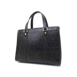 CELINE Celine logo handbag vintage leather black [20181214]