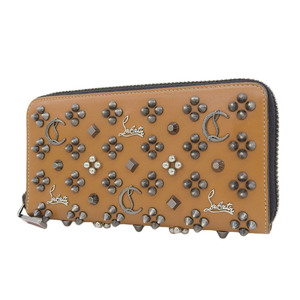 Christian Louboutin Panettone round zip wallet Multi-studded brown Brown Men's used [20190313]