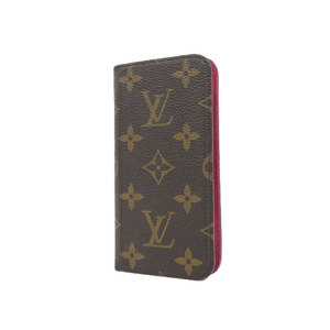 LOUIS VUITTON Louis Vuitton Folio iPhone 7 8 Notebook Type Cover Monogram Rose Smartphone Case Iphone M61906 used [20190308]