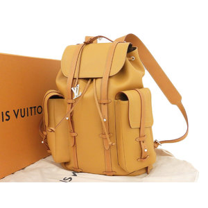 LOUIS VUITTON Louis Vuitton 19 SS Christopher GM rucksack backpack Nume leather M5 3270 Virgil Aburo used [20190227]