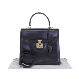 GUCCI Gucci Lady Lock 2way Handbag Leather Black Shoulder [20181214]