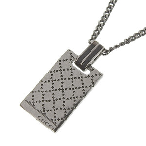 GUCCI Gucci Diamante Plated Necklace Chrome SV925 Men