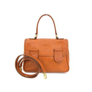 HIROFU Hirov Leather 2way Handbag Brown Shoulder Used [20190308]