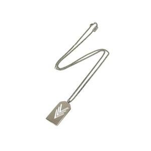 LOUIS VUITTON Louis Vuitton VVV Triple V Necklace 60cm Pendant Top Silver M00050 used [20190313]