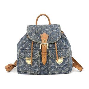 LOUIS VUITTON Louis Vuitton Suck Ad GM rucksack monogram denim backpack M95056 used [20190305]