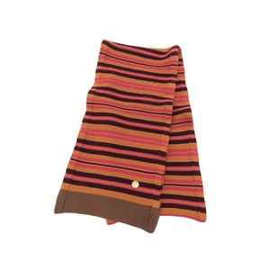 LOUIS VUITTON Louis Vuitton border scarf wool orange pink brown shawl [20190308]