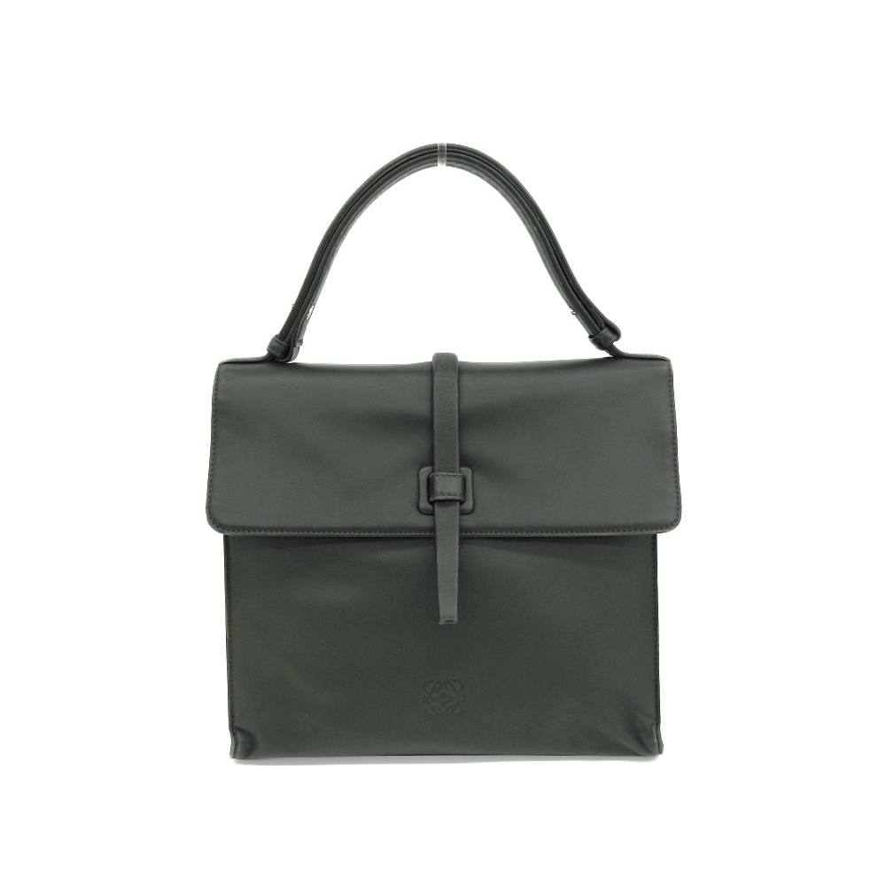 LOEWE Loewe Anagram Handbag Vintage Leather Green Moss Used [20190308]