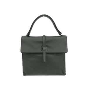 LOEWE Loewe Anagram Handbag Vintage Leather Green Moss Used [20190308]