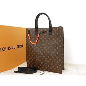 LOUIS VUITTON Louis Vuitton 19SS Sack plastic monogram 2WAY handbag shoulder M44475 Virgil Aburo second-hand [20190227]