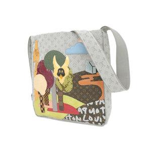 LOUIS VUITTON Louis Vuitton Rare Contedue Fes Busus Monogram Mini Shoulder Bag Different Material Gray M92278 [20190121]