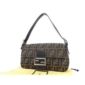 FENDI Fendi Mamma Bucket Zucca Pattern Shoulder Bag Brown Used [20190308]