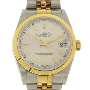ROLEX Rolex Oyster Perpetual Datejust Boys Automatic Watch Silver Dial Combi 78273 P