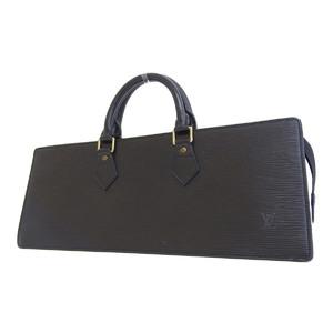 LOUIS VUITTON Louis Vuitton Suck Triangular Handbag Epi Line Black Noir M52092 [20190220]