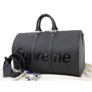 LOUIS VUITTON Louis Vuitton Supreme collaboration Kiporu Bundurier 45 Boston bag Epi black M53433 [20190308]