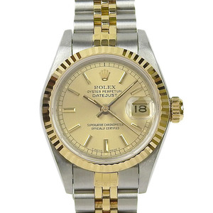 ROLEX Datejust Combi Ladies Automatic Roll Watch 69173 L