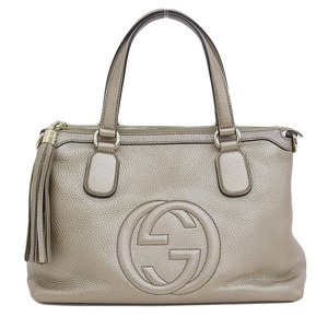 GUCCI Gucci Soho 2WAY handbag shoulder bronze gold hardware 30862