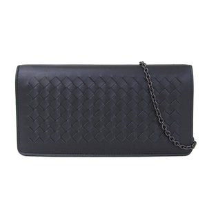 BOTTEGA VENETA Bottega Veneta Intrecherto chain wallet black long women 445153
