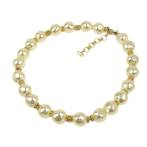 CHRISTIAN DIOR Dior Pearl Choker Costume Jewelry Necklace