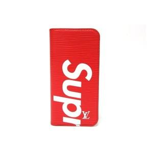 LOUIS VUITTON x Supreme Louis Vuitton Folio for iPhone 7 Case Epi Red Men's M64498