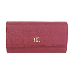 GUCCI Gucci Petit Marmont Leather Continental Wallet Long Red 456116