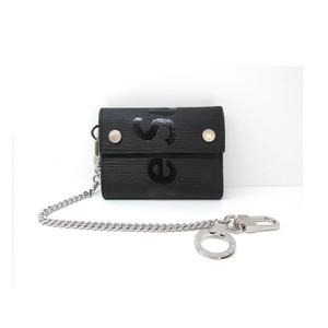 LOUIS VUITTON x Supreme Louis Vuitton Chain Wallet Epi 3-fold Men's Black M67711