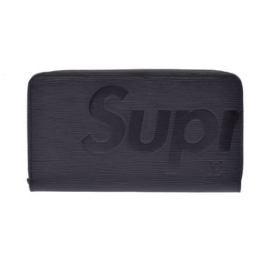 LOUIS VUITTON × Supreme Louis Vuitton Zippy Organize Organizer Epi Long Wallet Round Zip Black Men's M67723