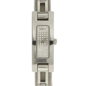 GUCCI Gucci chain breath quartz watch silver diamond face womens 3900L