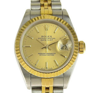 ROLEX DATEJUST Automatic winding Ladies watch Champagne gold dial 79173 P number