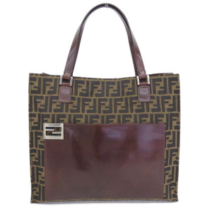 FENDI Zucca FF logo Book tote bag Brown