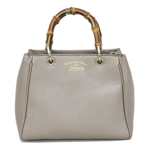 GUCCI Gucci Bamboo 2WAY Shoulder Bag Handbag Champagne Gold 368823