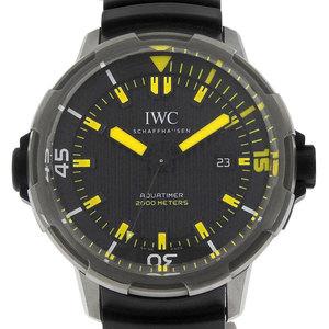 IWC Aquatimer Automatic 2000 Winding Men's Watch Rubber Belt Black Yellow IW358001