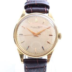 IWC Schaffhausen Mechanical Yellow Gold (18K) Unisex Luxury Watch