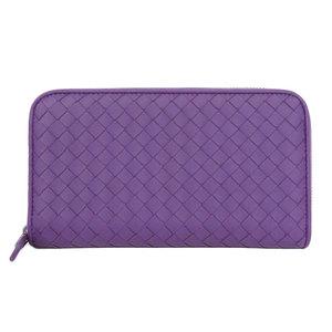 Bottega Veneta BOTTEGA VENETA Intore leather round zip wallet with box purple