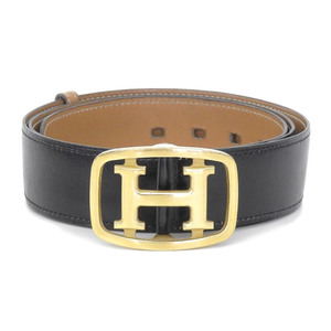 HERMES 80's France made Constance belt original type double lock leather 85 in 1981 ddd