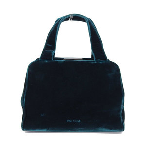 Prada 90's Italian blue velor party handbag
