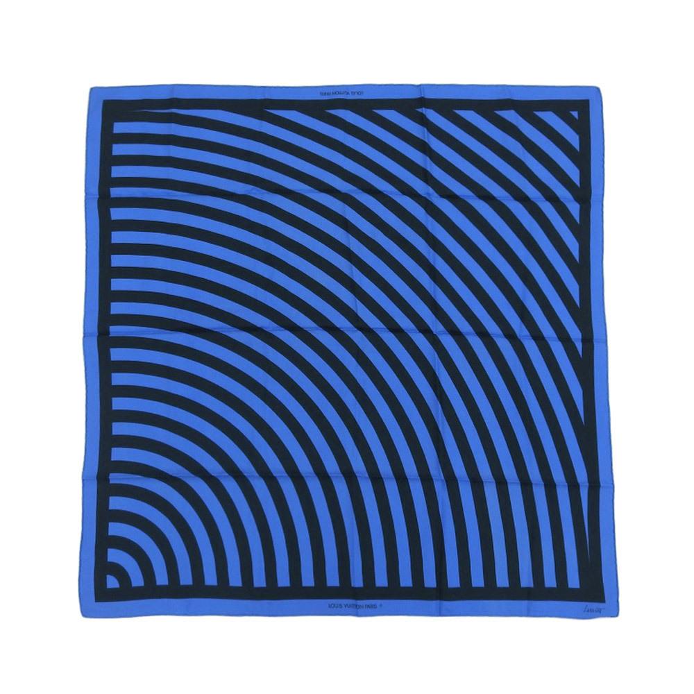 Louis Vuitton LOUIS VUITTON 1989 Limited Edition Sol LeWitt Design Silk Scarf Contemporary Art 90cm 80s Lewitt