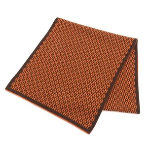 Hermes Women's Cashmere Scarf Brown,Orange