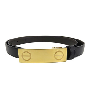 Cartier Gold Love Buckle Men's Leather Belt 90cm Box With Card