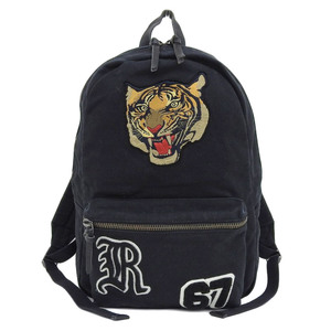 Ralph Lauren Tiger patch backpack rucksack black unisex