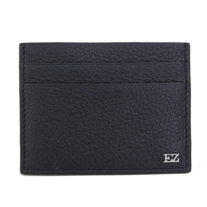 Ermenegirudozenia Ermenegildo Zegna Box Goat Leather Credit Card Case Dark Gray Deerskin Top Grade