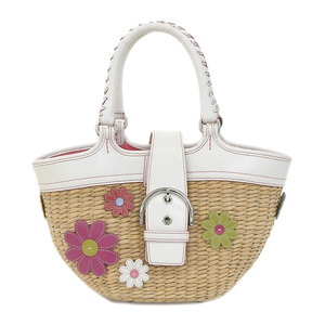 COACH Limited edition Flower patchwork basket bag Shibuya store opening commemorative item