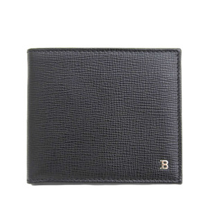 Barry BALLY Current Tag Folded Wallet Calf × 2 Card Case 8 Free Black