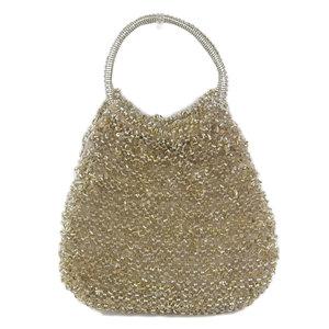 Anteprima ANTEPRIMA wire glitter inner lining handbag gold