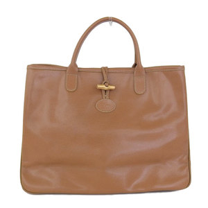 Longchamp Rozo leather handbag camel